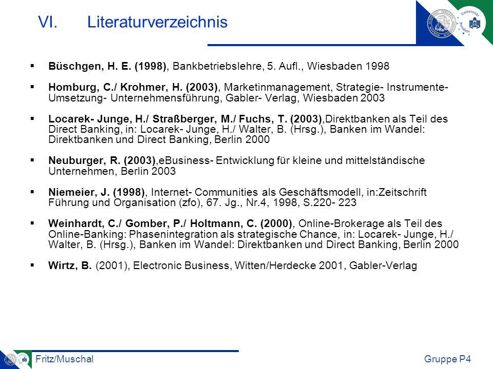 VI. Literaturverzeichnis