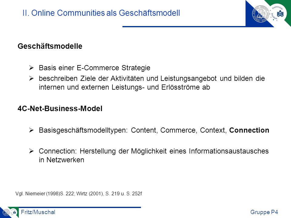 II. Online Communities als Geschäftsmodell