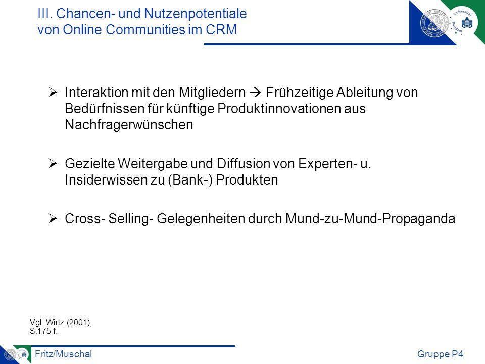 III. Chancen- und Nutzenpotentiale von Online Communities im CRM