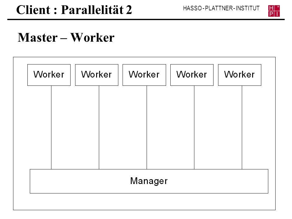 Client : Parallelität 2 Master – Worker