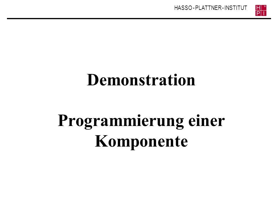 Demonstration Programmierung einer Komponente