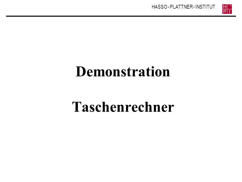 Demonstration Taschenrechner