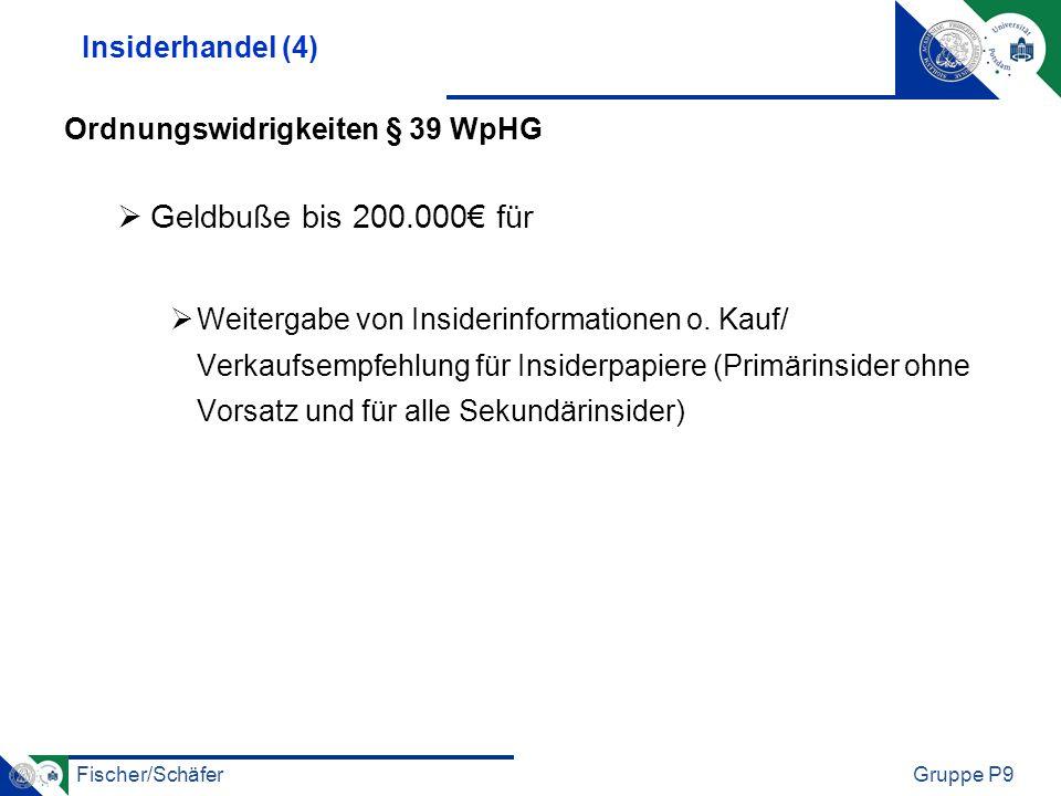 Geldbuße bis 200.000€ für Insiderhandel (4)