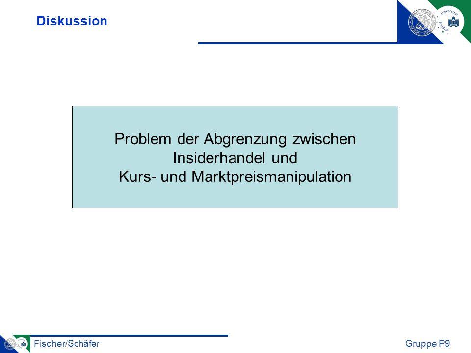 Problem der Abgrenzung zwischen Insiderhandel und