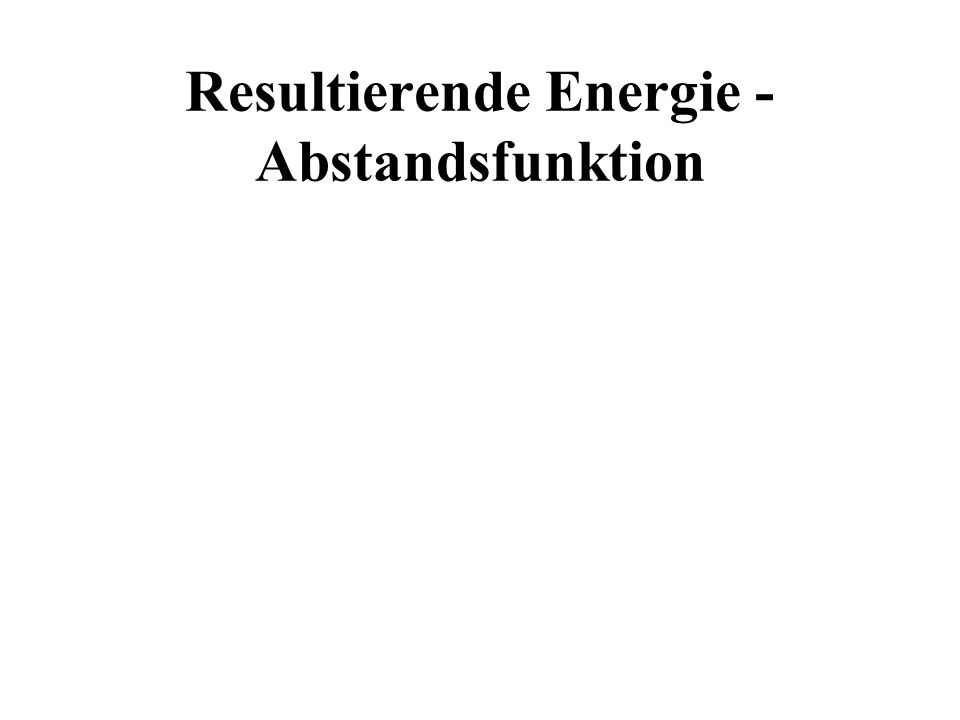 Resultierende Energie - Abstandsfunktion