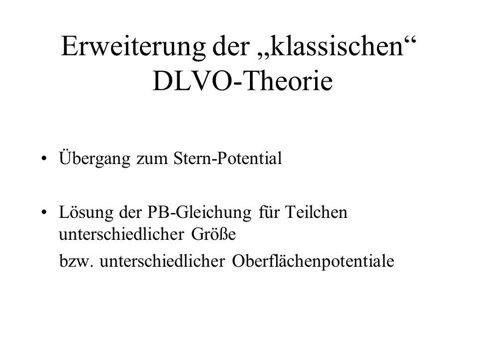"""Erweiterung der """"klassischen DLVO-Theorie"""