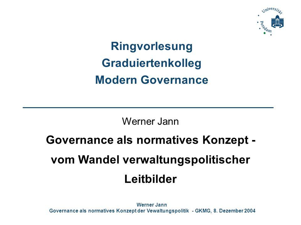 Ringvorlesung Graduiertenkolleg Modern Governance