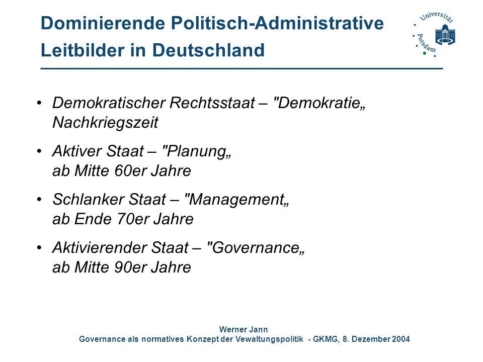 Dominierende Politisch-Administrative Leitbilder in Deutschland