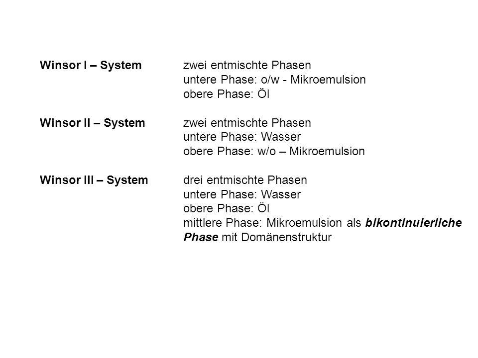 Winsor I – System zwei entmischte Phasen