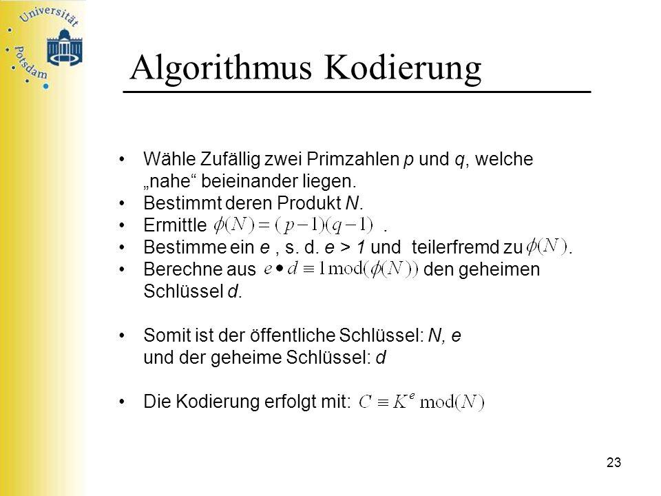 Algorithmus Kodierung