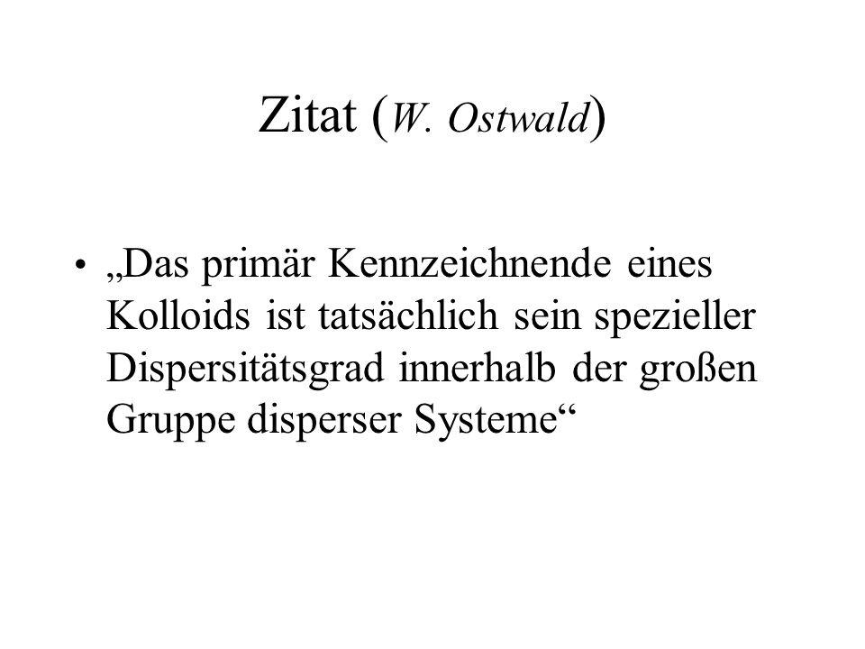 Zitat (W. Ostwald)