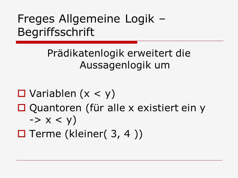 Freges Allgemeine Logik – Begriffsschrift