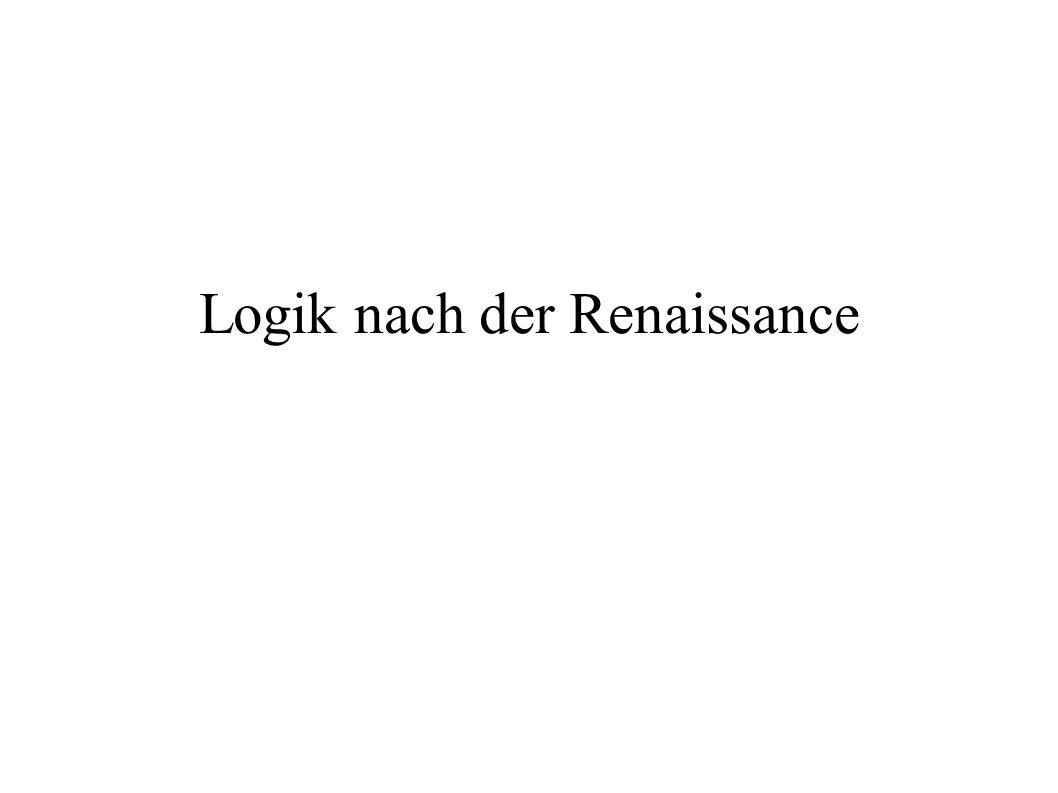 Logik nach der Renaissance