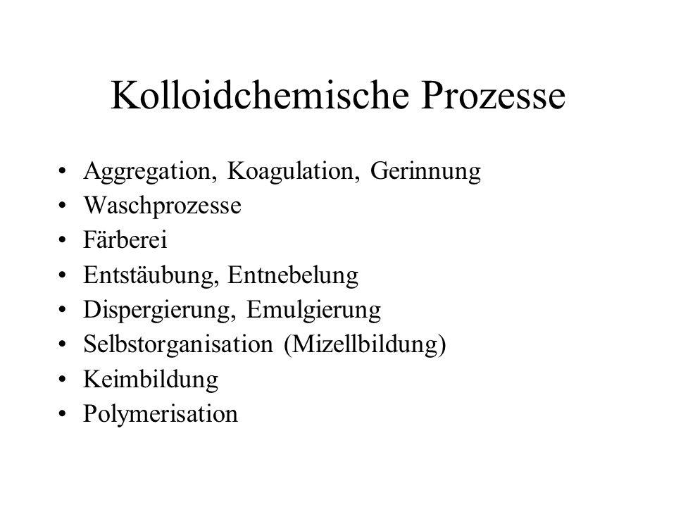 Kolloidchemische Prozesse
