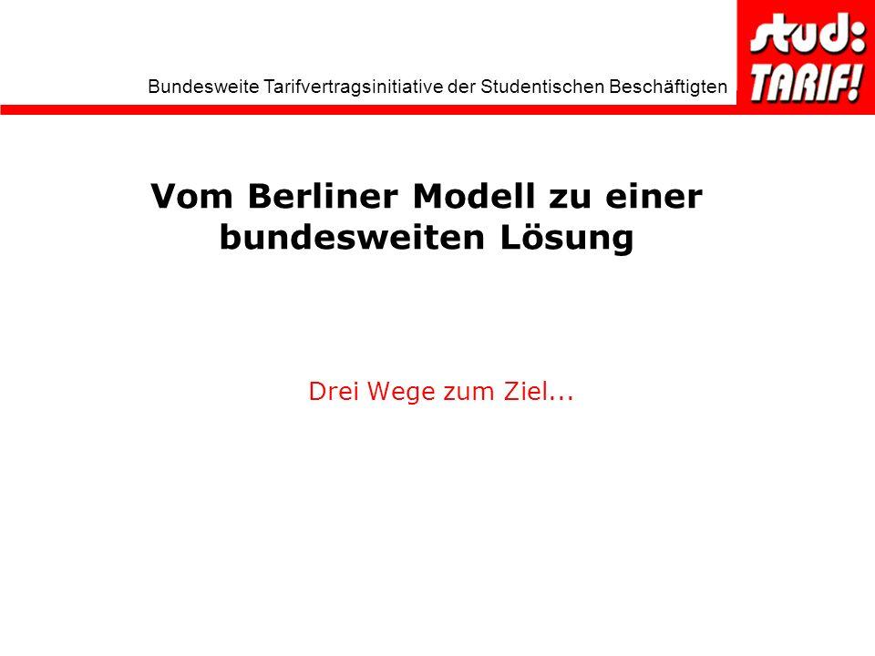 Vom Berliner Modell zu einer bundesweiten Lösung