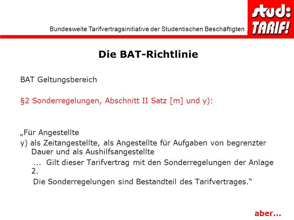 Die BAT-Richtlinie BAT Geltungsbereich