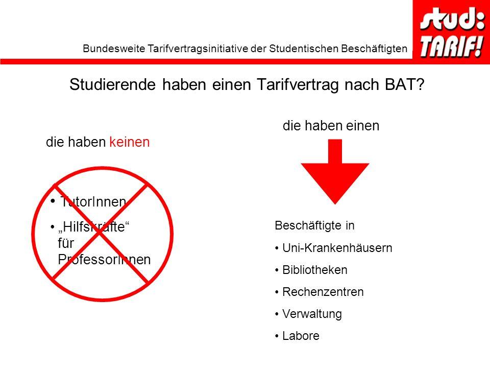 Studierende haben einen Tarifvertrag nach BAT
