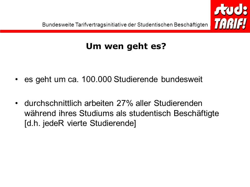 Um wen geht es es geht um ca. 100.000 Studierende bundesweit.