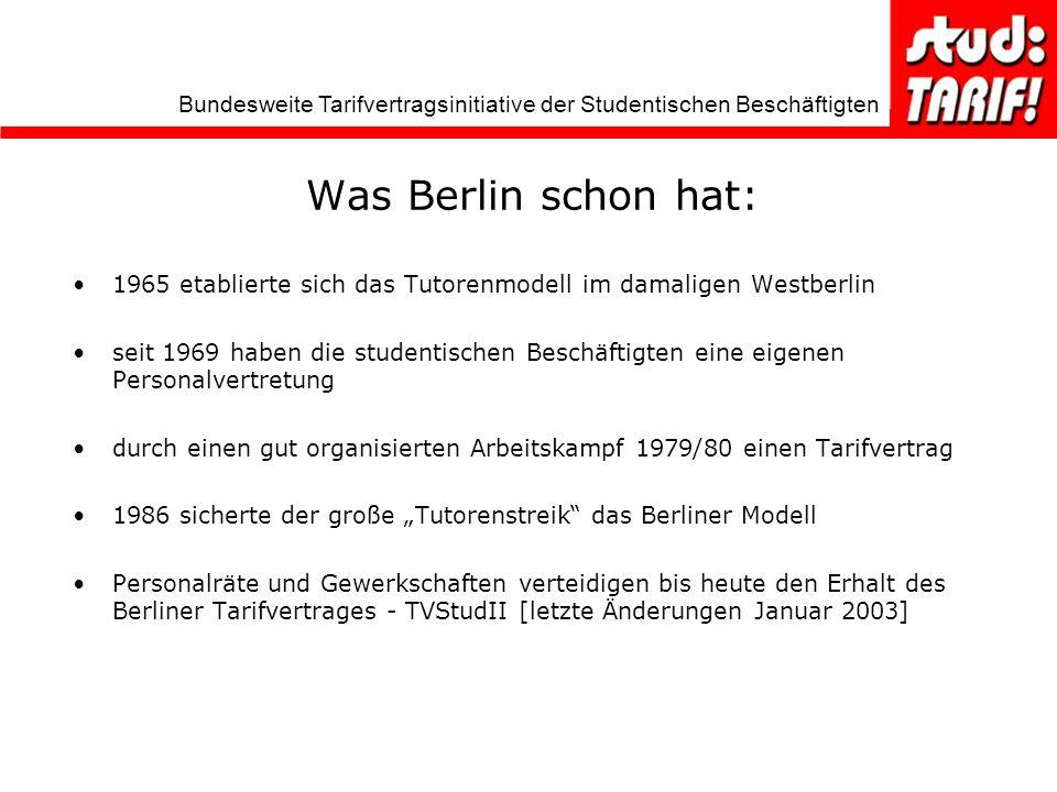 Was Berlin schon hat: 1965 etablierte sich das Tutorenmodell im damaligen Westberlin.