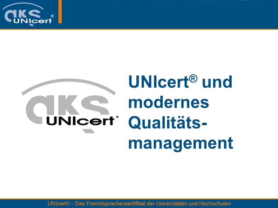 UNIcert® und modernes Qualitäts-management