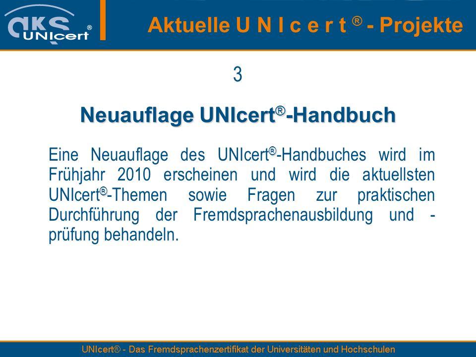 Neuauflage UNIcert®-Handbuch