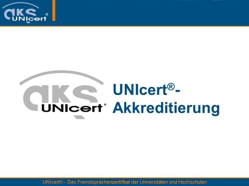 UNIcert®- Akkreditierung