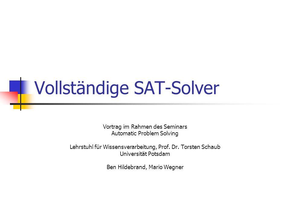 Vollständige SAT-Solver