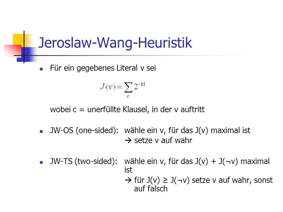 Jeroslaw-Wang-Heuristik