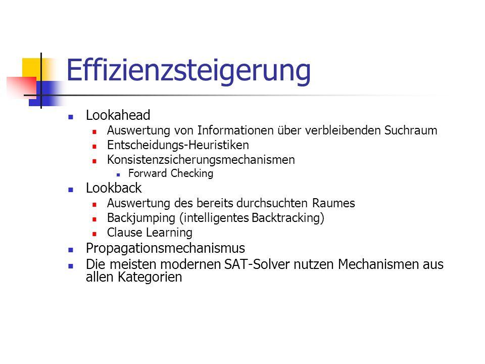 Effizienzsteigerung Lookahead Lookback Propagationsmechanismus