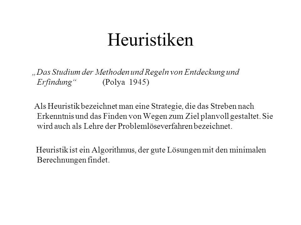 """Heuristiken """"Das Studium der Methoden und Regeln von Entdeckung und Erfindung (Polya 1945)"""