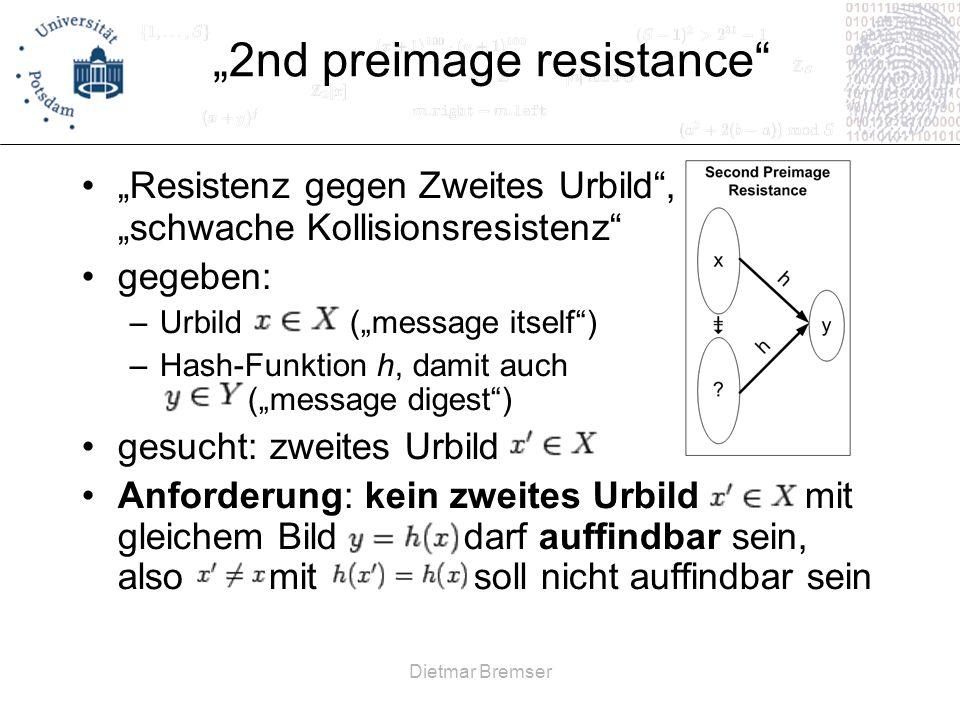 """""""2nd preimage resistance"""