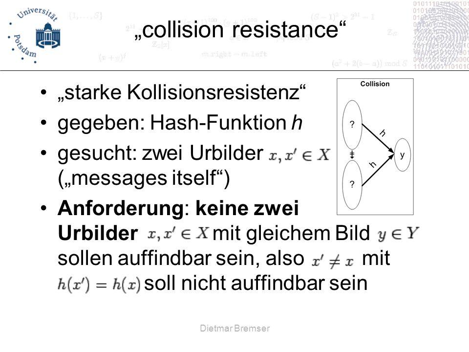 """collision resistance"
