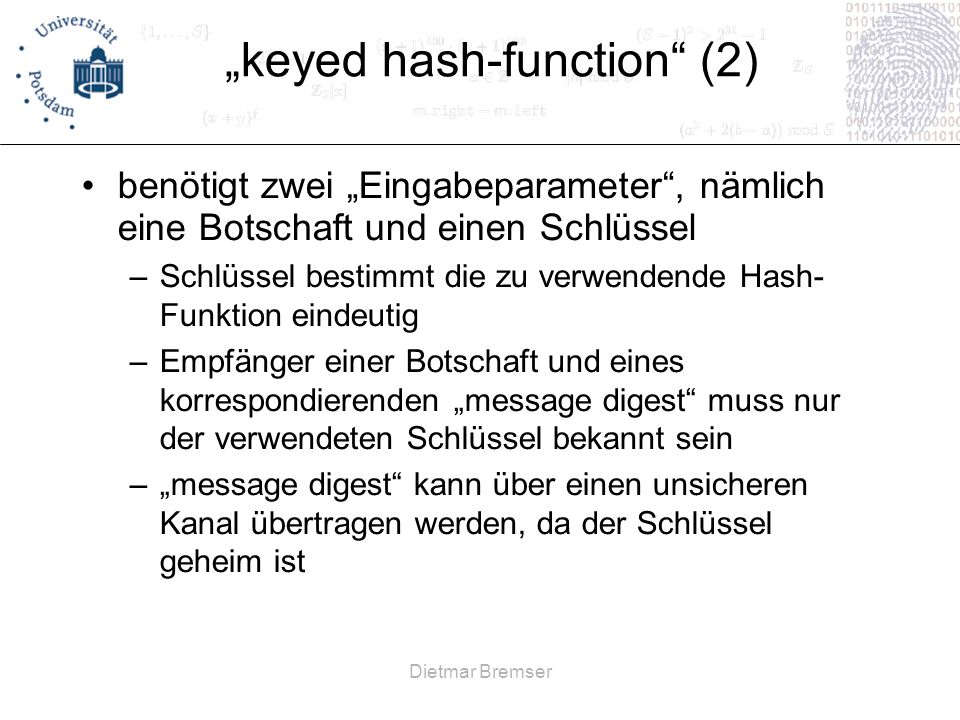 """keyed hash-function (2)"