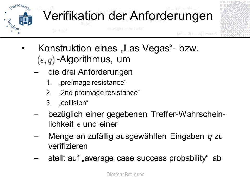 Verifikation der Anforderungen