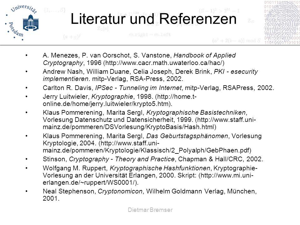 Literatur und Referenzen