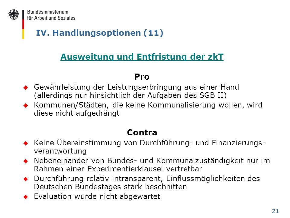 IV. Handlungsoptionen (11)