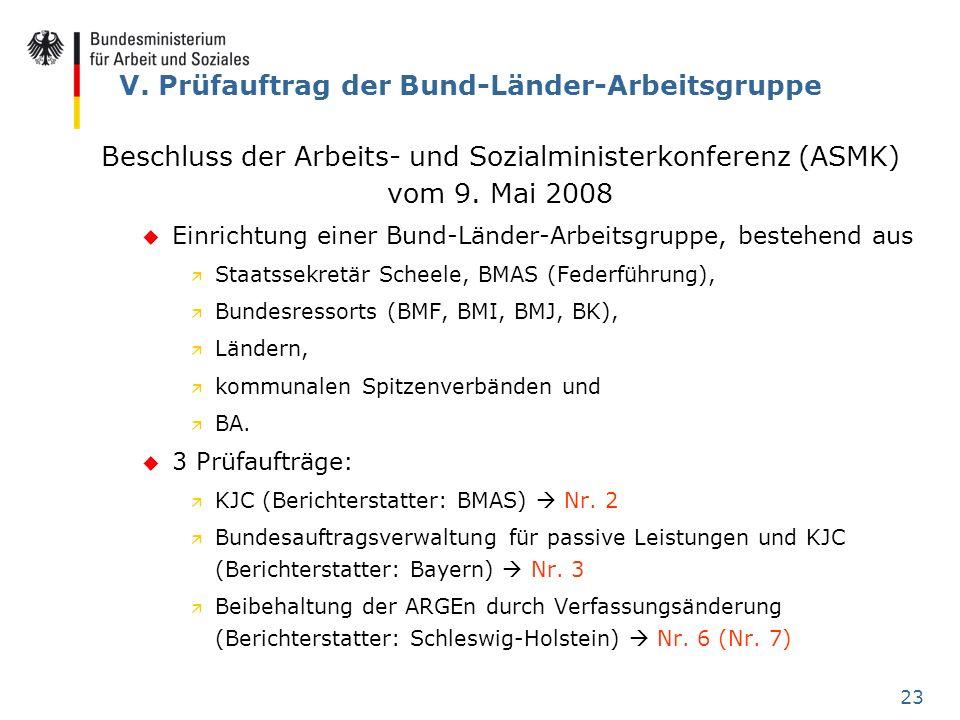 V. Prüfauftrag der Bund-Länder-Arbeitsgruppe