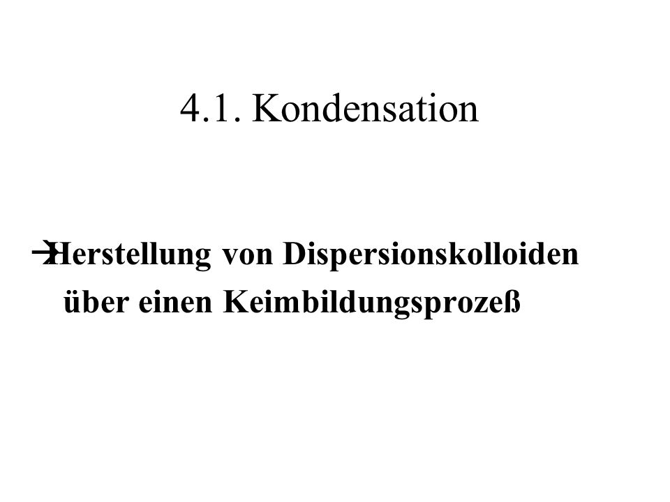Herstellung von Dispersionskolloiden über einen Keimbildungsprozeß