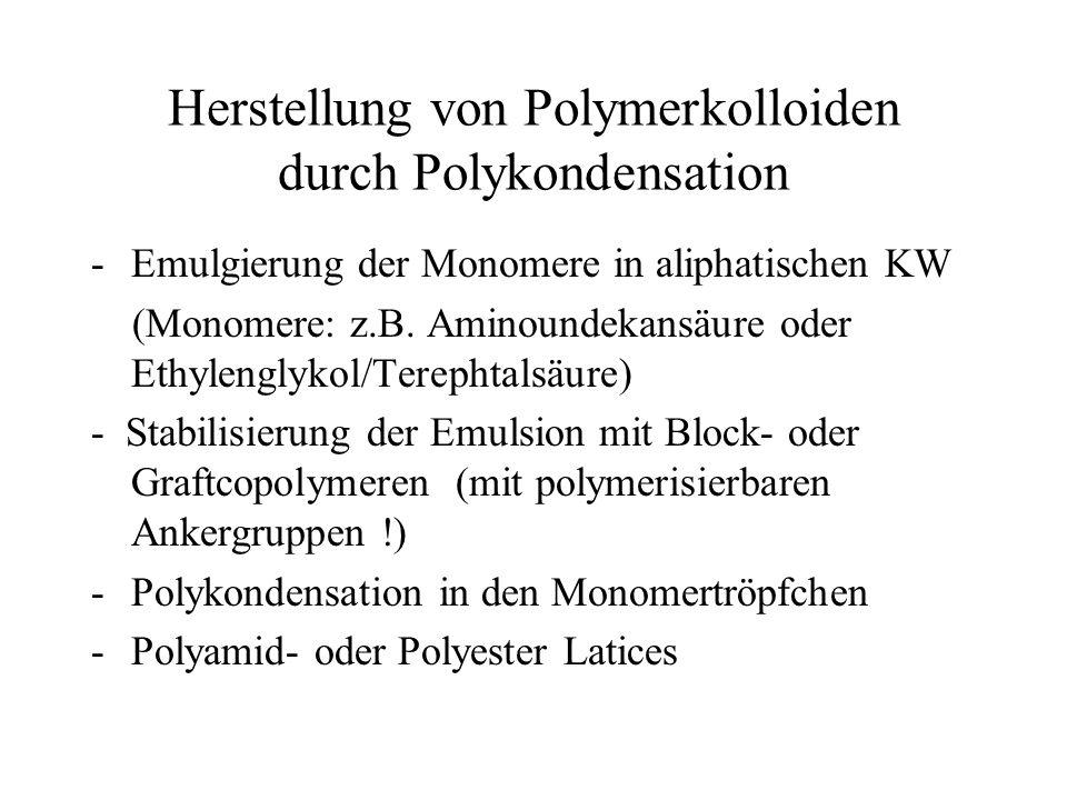 Herstellung von Polymerkolloiden durch Polykondensation