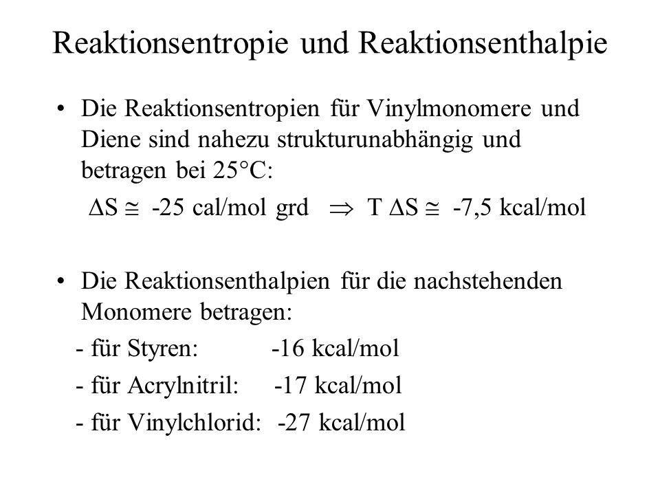 Reaktionsentropie und Reaktionsenthalpie