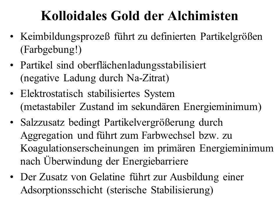 Kolloidales Gold der Alchimisten