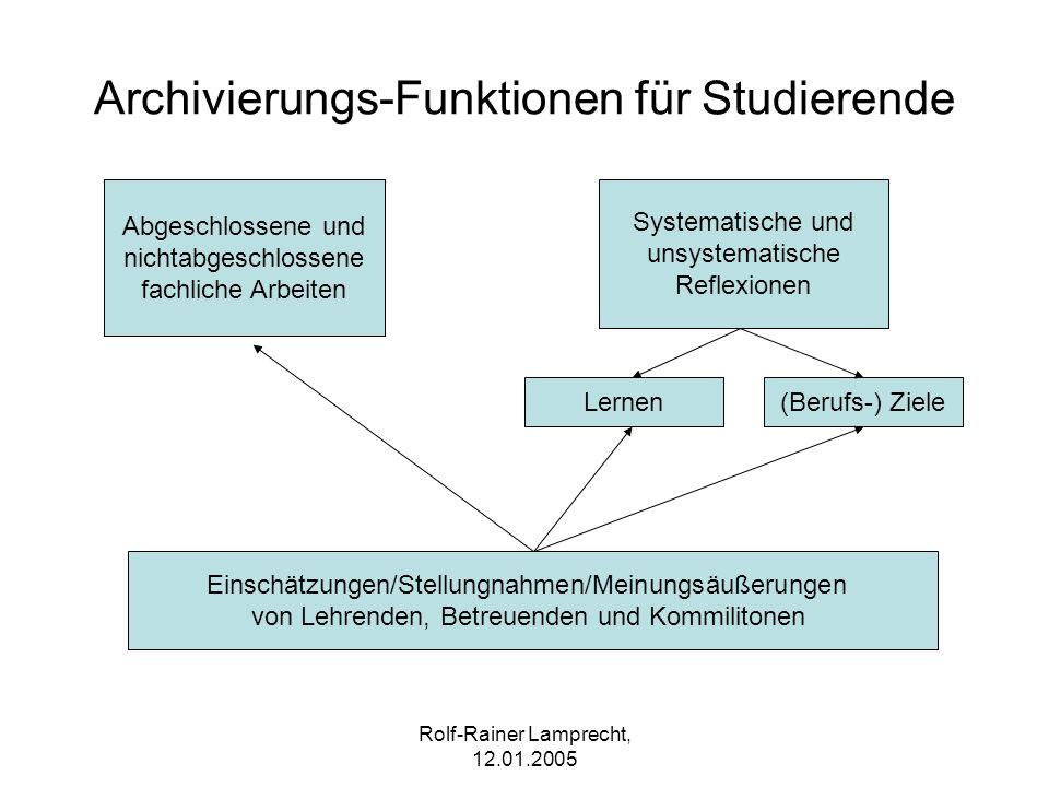 Archivierungs-Funktionen für Studierende