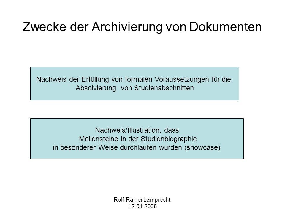 Zwecke der Archivierung von Dokumenten