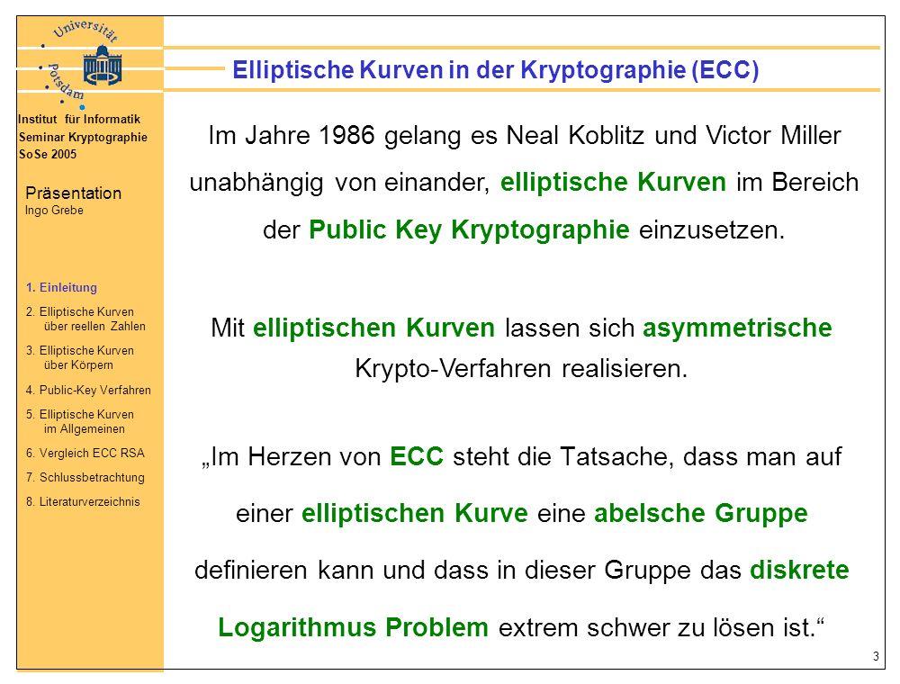 Elliptische Kurven in der Kryptographie (ECC)