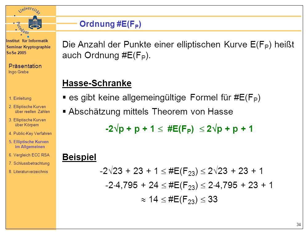 es gibt keine allgemeingültige Formel für #E(FP)