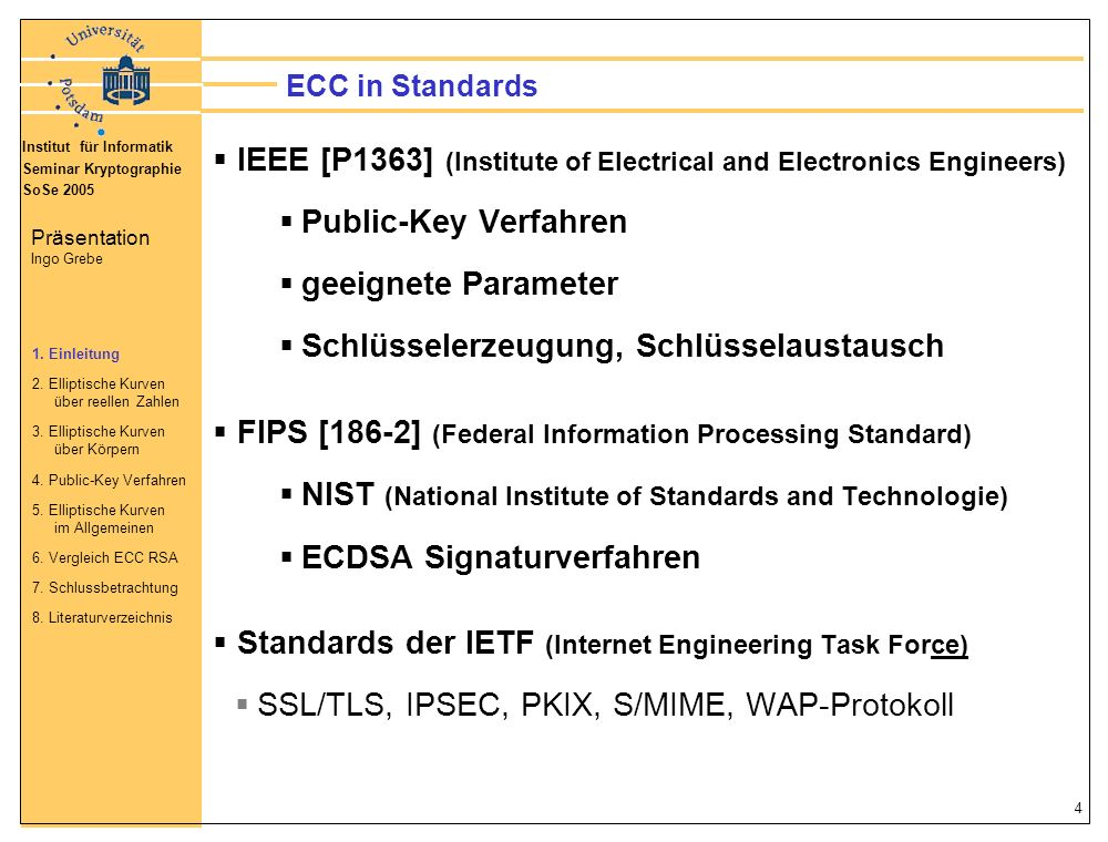 IEEE [P1363] (Institute of Electrical and Electronics Engineers)