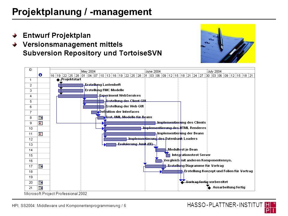 Projektplanung / -management
