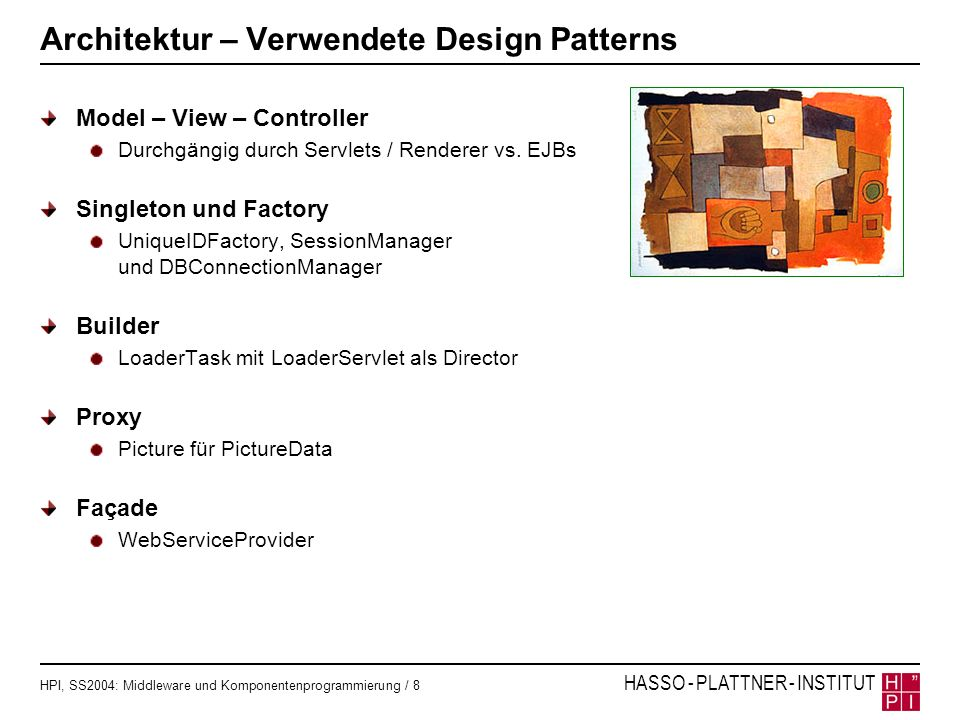 Architektur – Verwendete Design Patterns