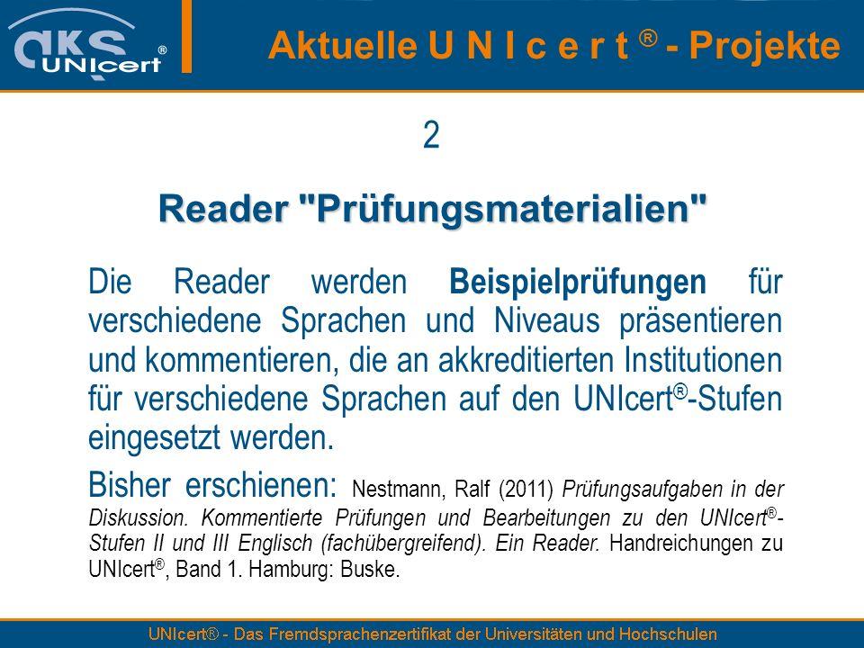 Reader Prüfungsmaterialien