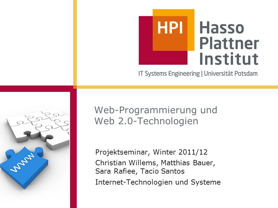 Web-Programmierung und Web 2.0-Technologien